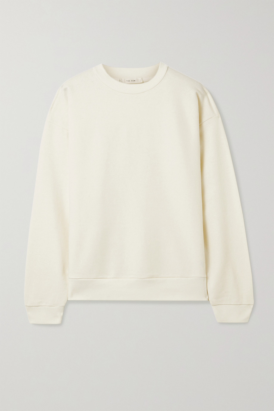 The Row Carlo cotton and cashmere-blend sweatshirt