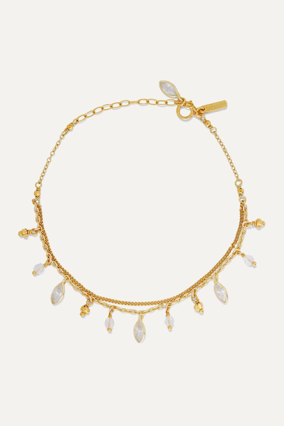 Chan Luu Gold-plated Swarovski crystal bracelet