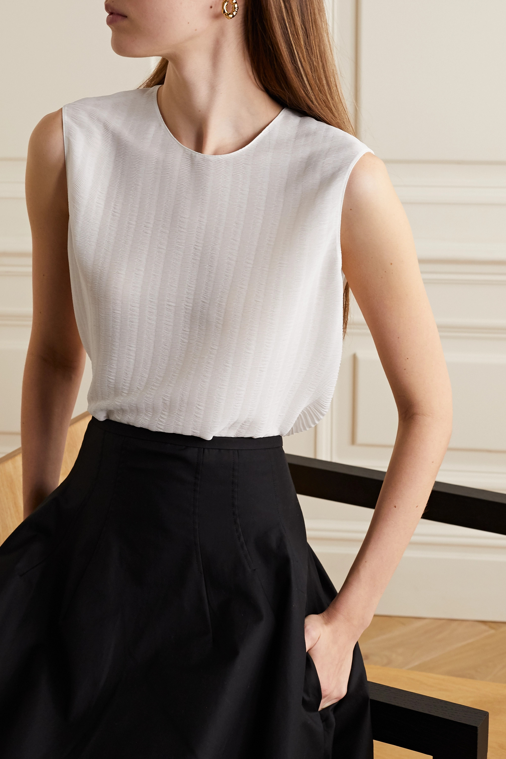 The Row Adela georgette top