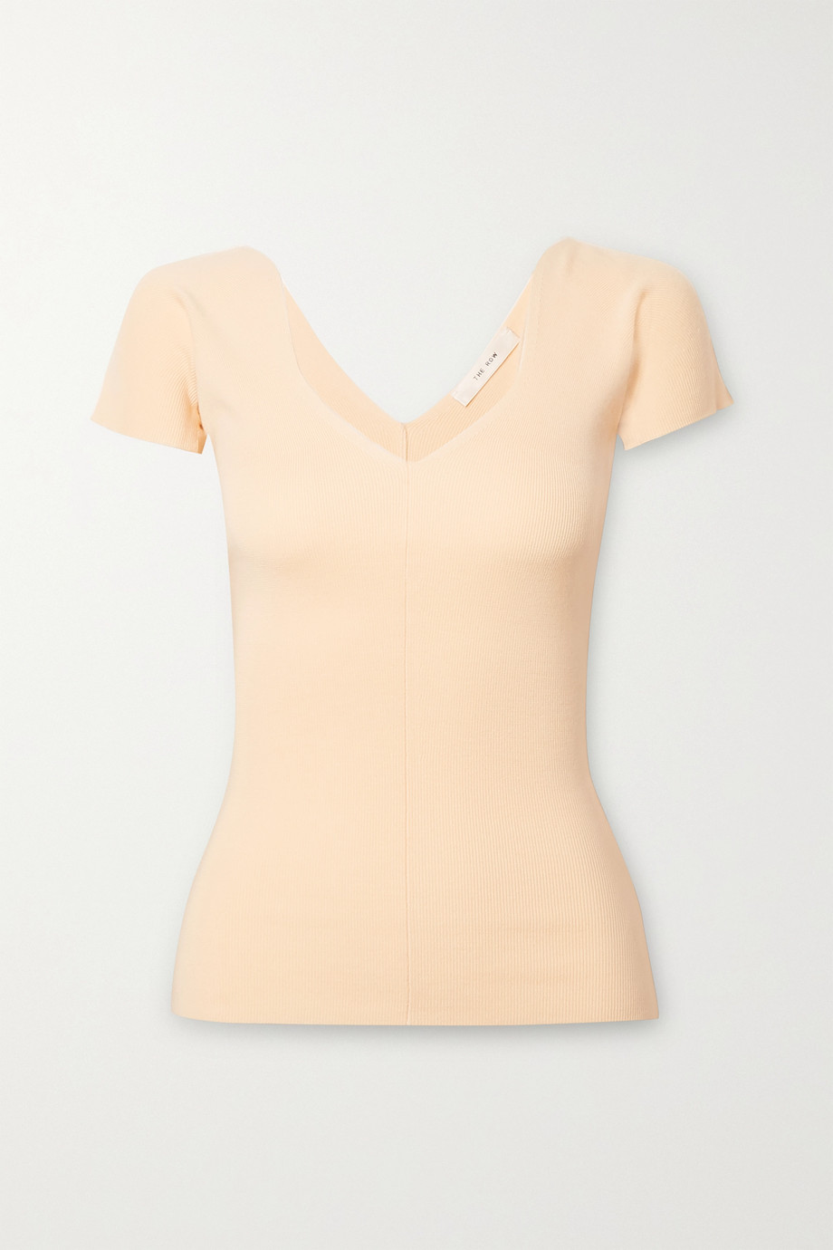 The Row Tain ribbed merino wool and cashmere-blend top