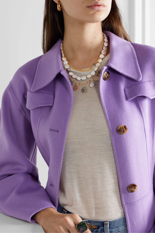 Chan Luu Gold-tone multi-stone necklace