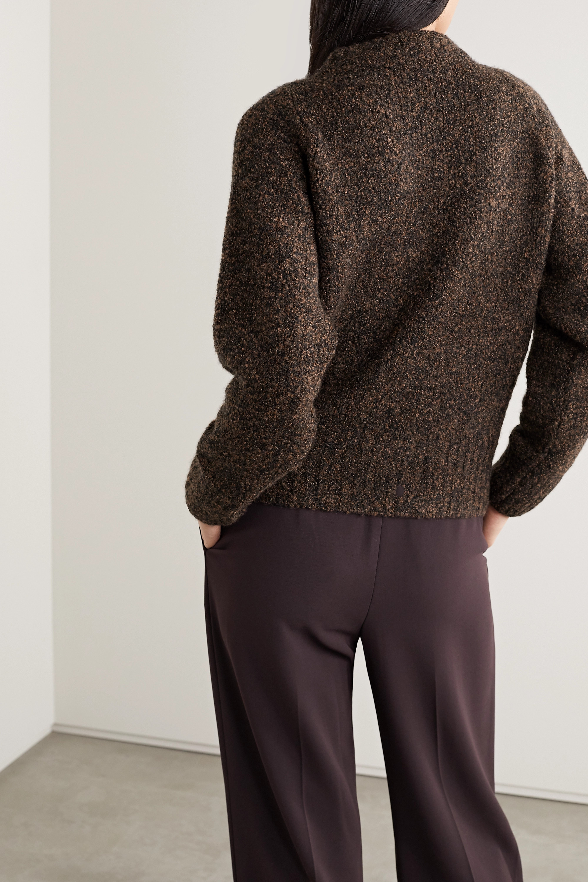The Row Cera mélange cashmere and silk-blend sweater
