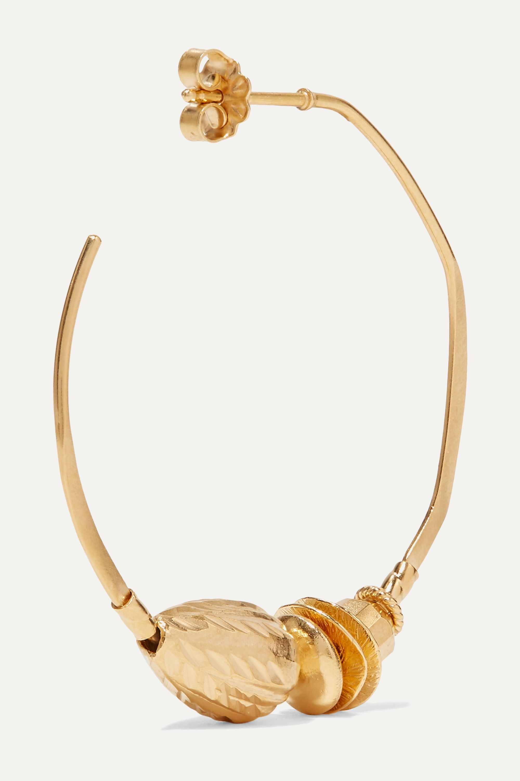 Chan Luu Gold-plated hoop earrings