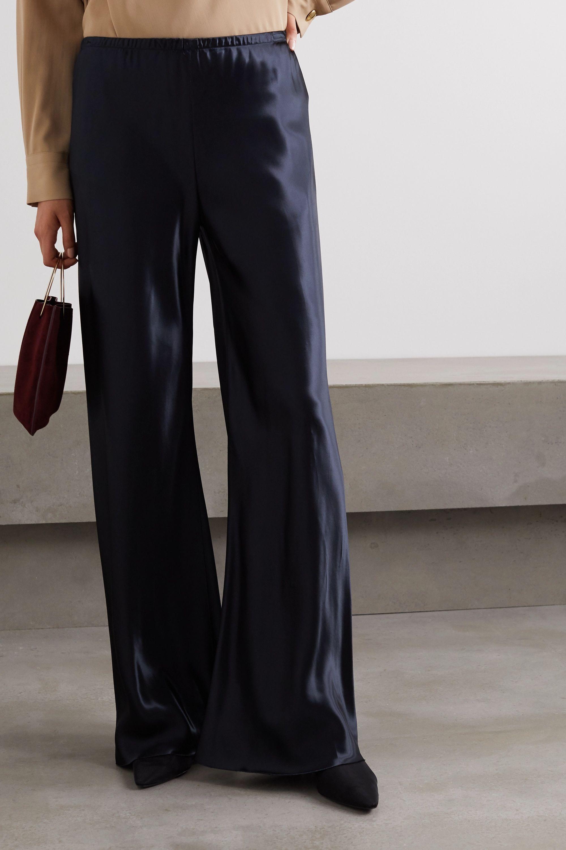 The Row Gala satin wide-leg pants