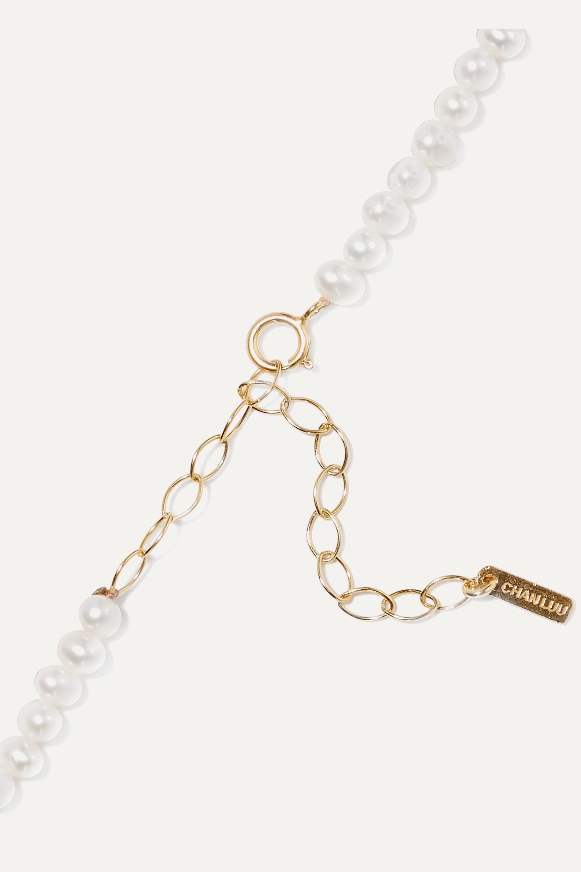 Chan Luu Vergoldetes Fußkettchen mit Perlen