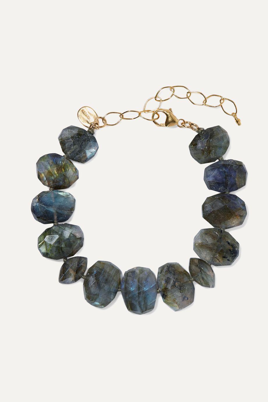 Chan Luu Gold-plated labradorite bracelet