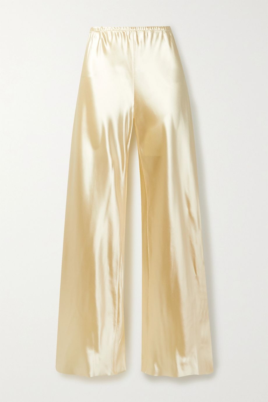 The Row Gala satin wide-leg pants