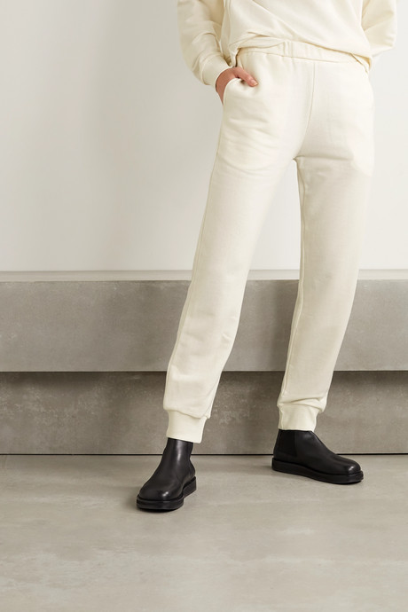 Azila cotton and cashmere-blend track pants