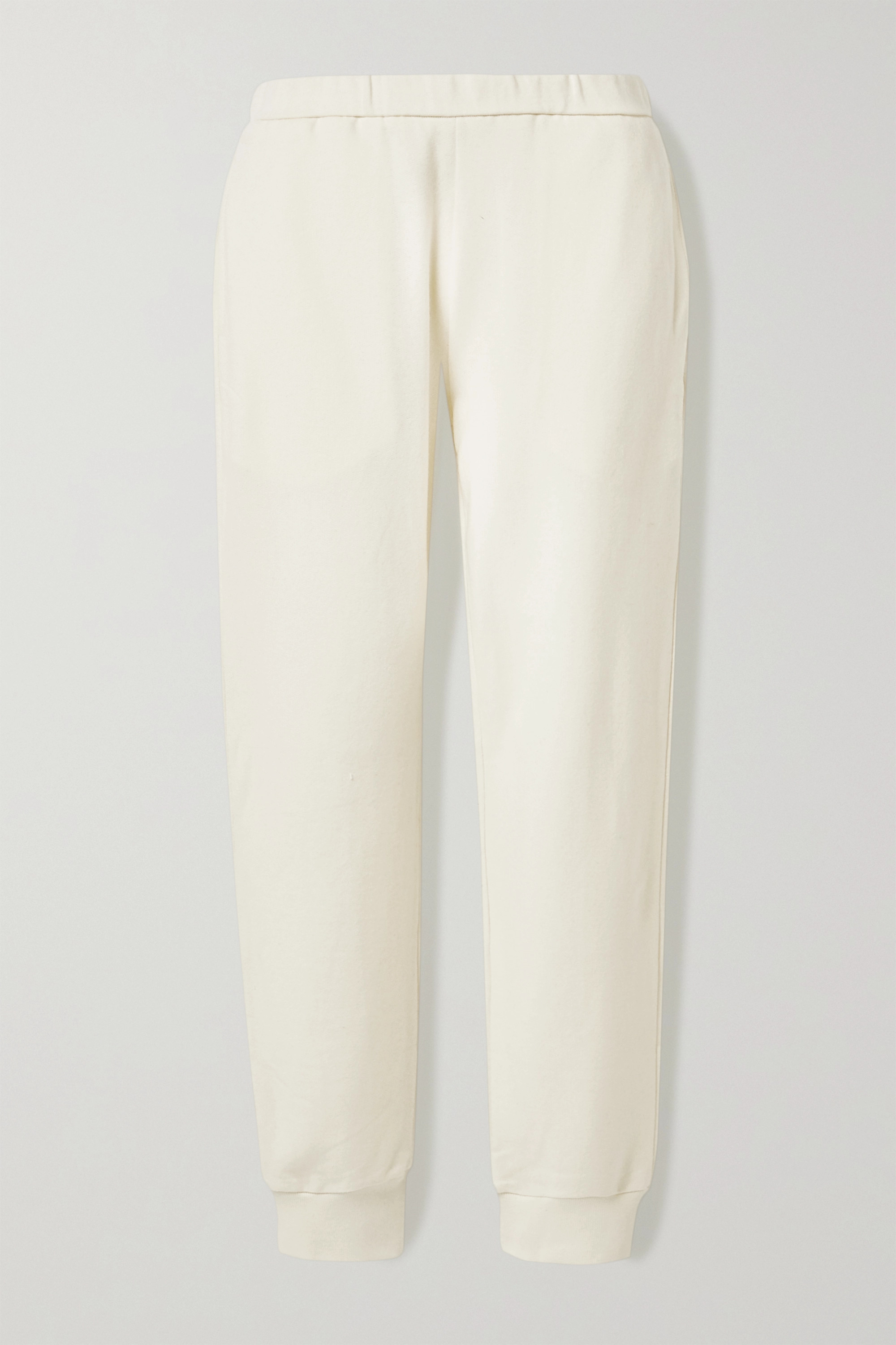 The Row Azila cotton and cashmere-blend track pants