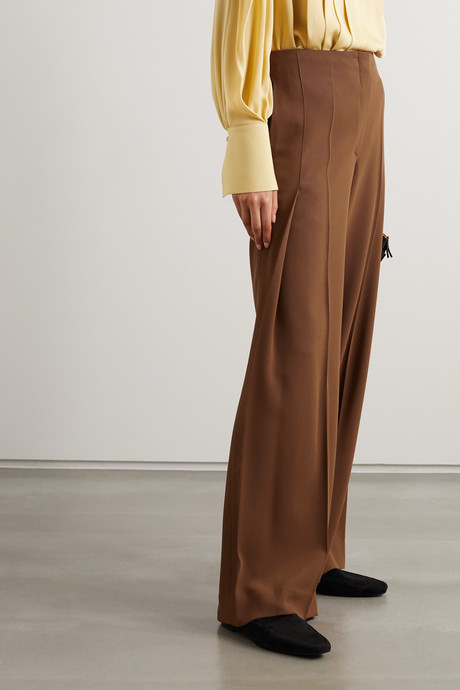 Alexa wool-twill pants