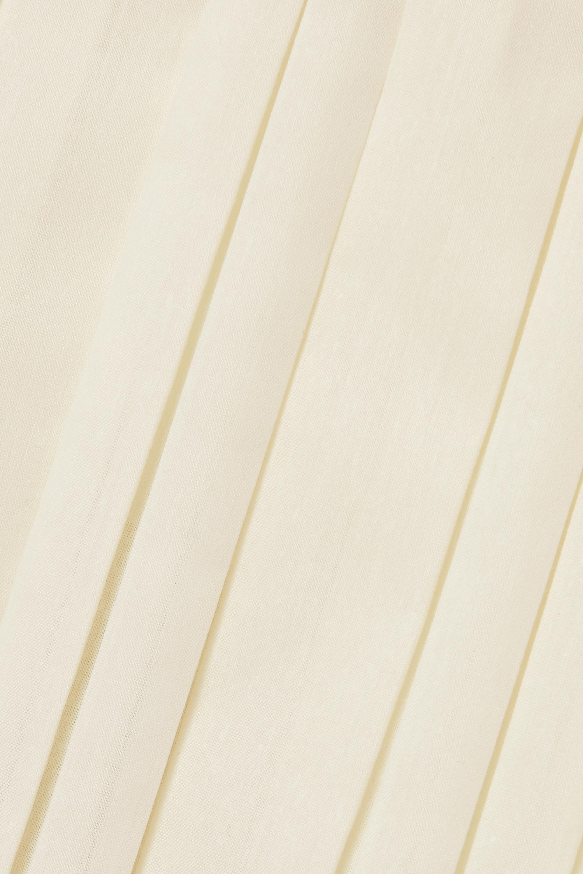 The Row Jupe midi plissée en crêpe Magdita