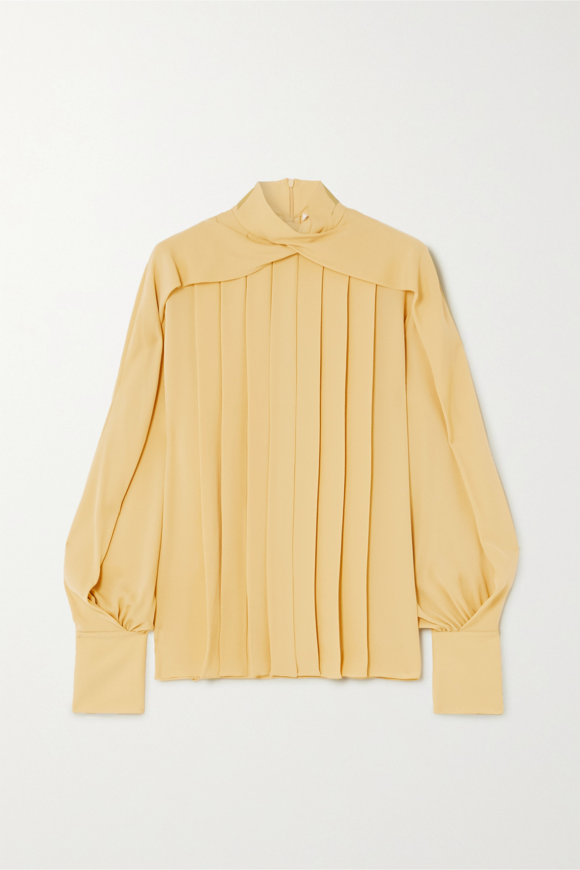The Row Gilia pleated silk crepe de chine blouse