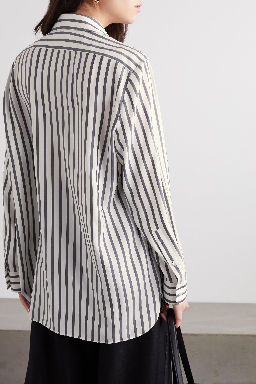 The Row Big Sisea striped silk shirt