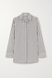 The Row Big Sisea striped silk shirt