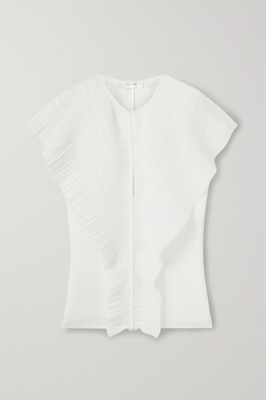 The Row Blouse en mousseline plissée Wiola