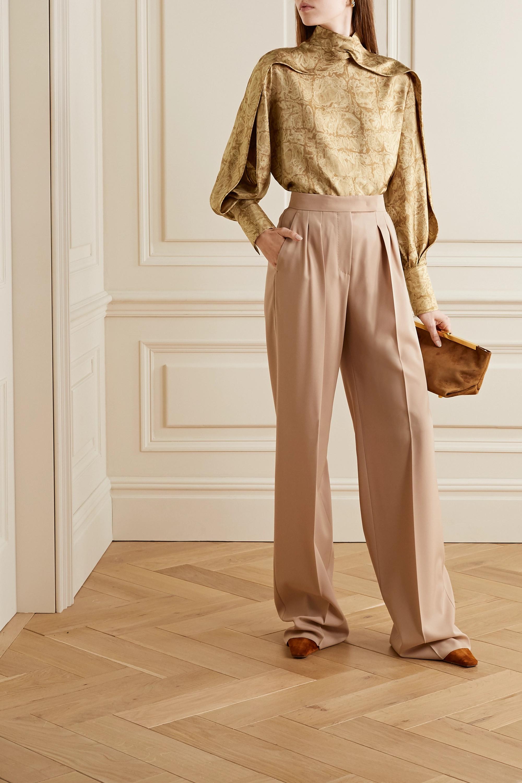 The Row Lima Bluse aus bedruckter Seiden-Faille