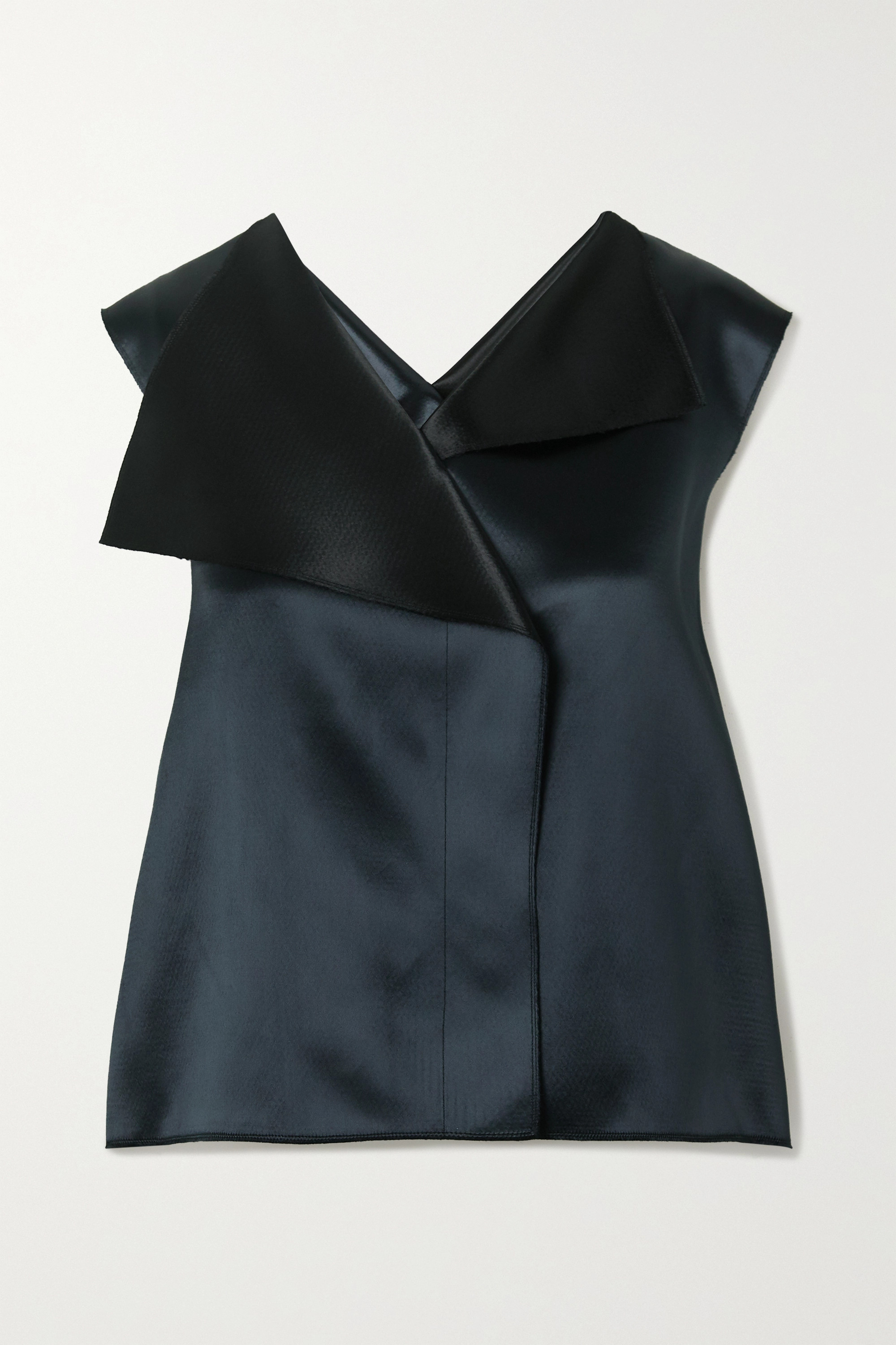 The Row Ori two-tone satin top