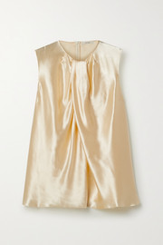 The Row Shira hammered-satin top
