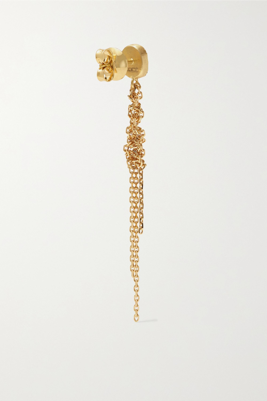 Brooke Gregson Waterfall Ohrringe aus 18 Karat Gold mit Saphiren