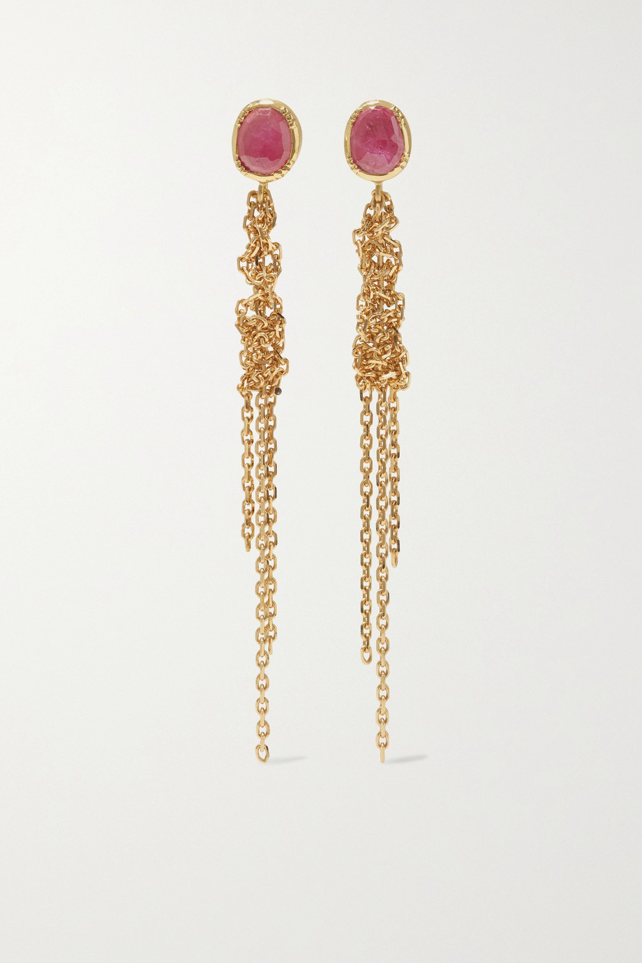 Brooke Gregson Waterfall 18-karat gold sapphire earrings