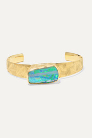 Hera 18-karat gold, opal and diamond cuff