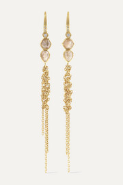 Double Waterfall 18-karat gold diamond earrings