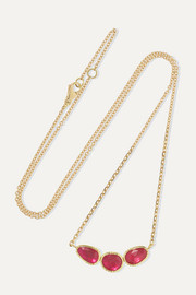 Brooke Gregson Orbit 18-karat gold ruby necklace