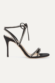 Sergio Rossi Crystal-embellished faille sandals