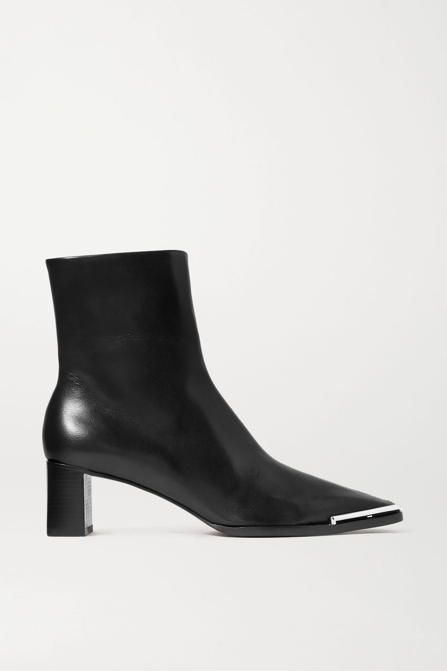 Alexander Wang Mascha glossed-leather ankle boots