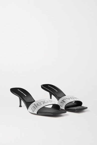 Jessi Crystal Embellished Leather Mules by Alexander Wang