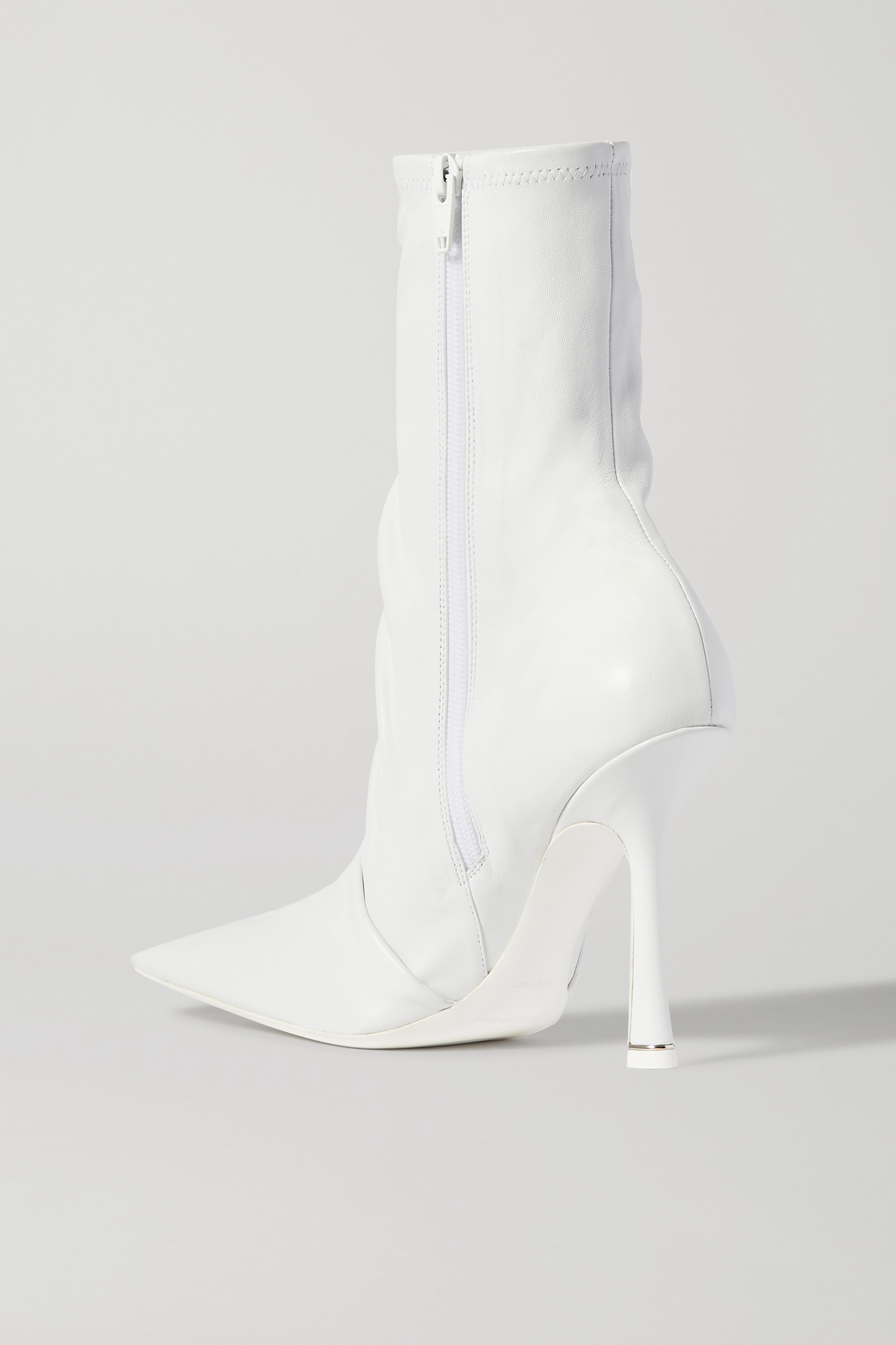 Alexander Wang Vanna logo-embroidered ruched leather sock boots