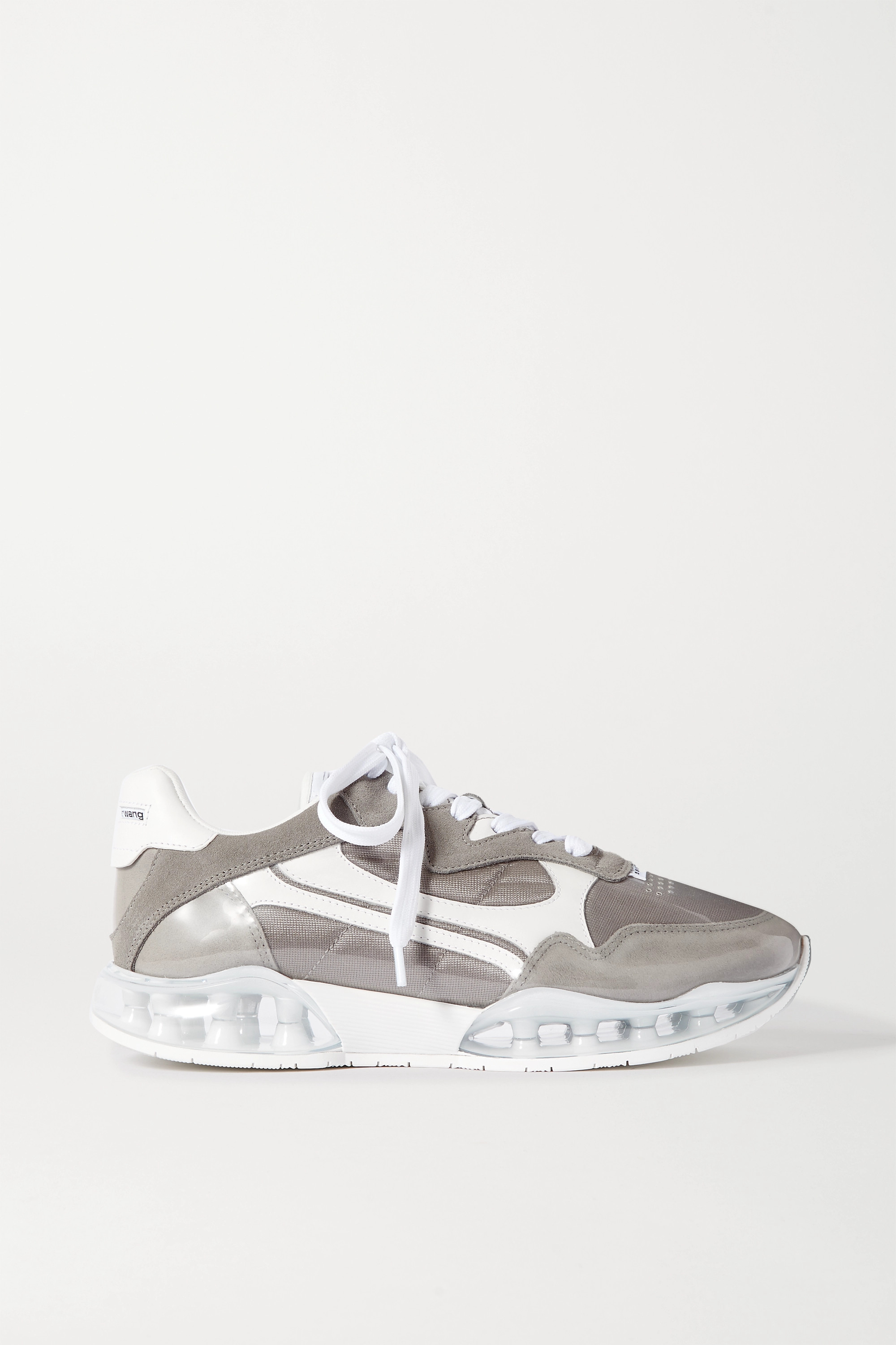 Gray Stadium PVC, leather, suede and