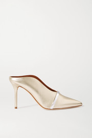 Malone Souliers Constance 85 metallic leather mules