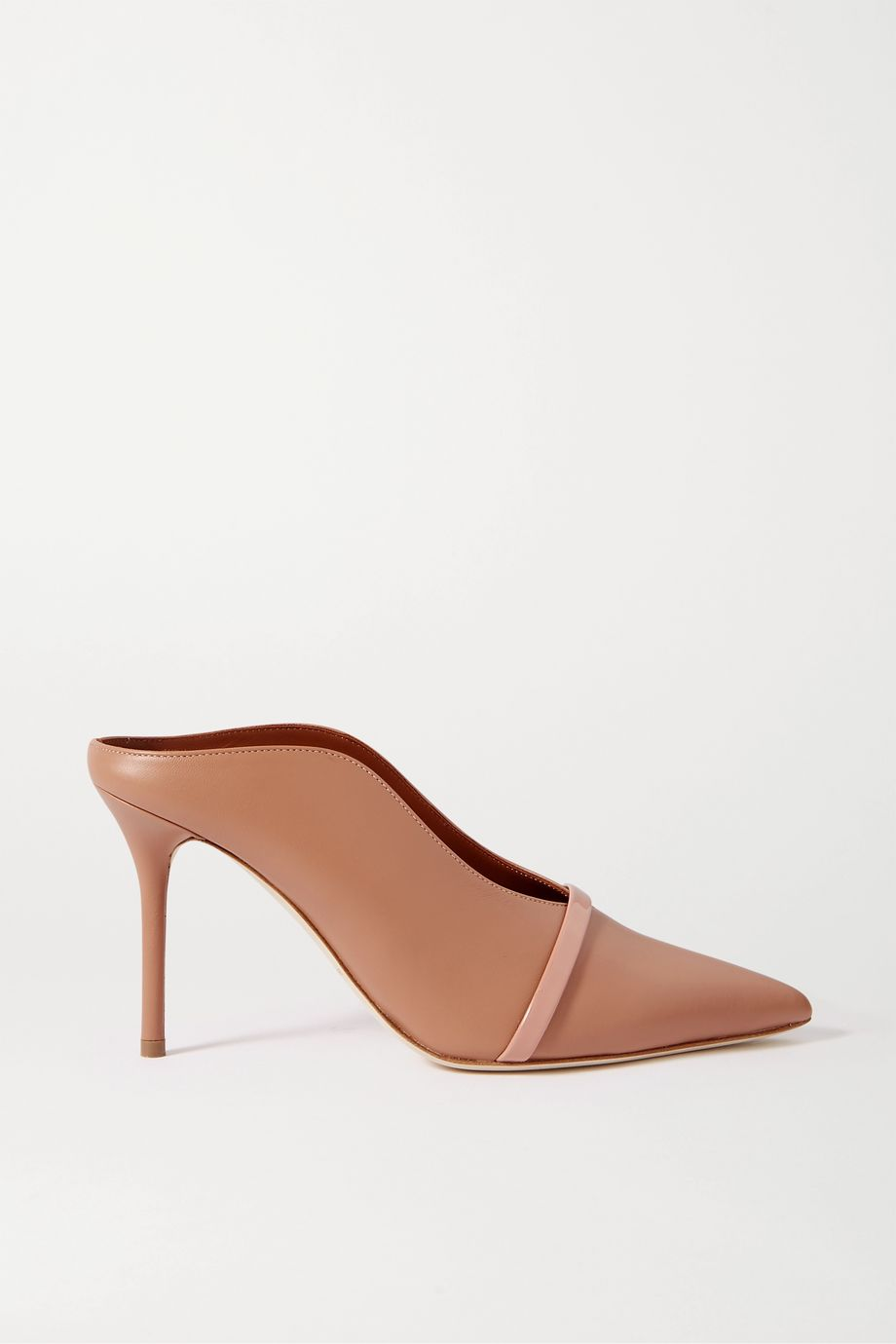 Malone Souliers Constance 85 smooth and patent-leather mules