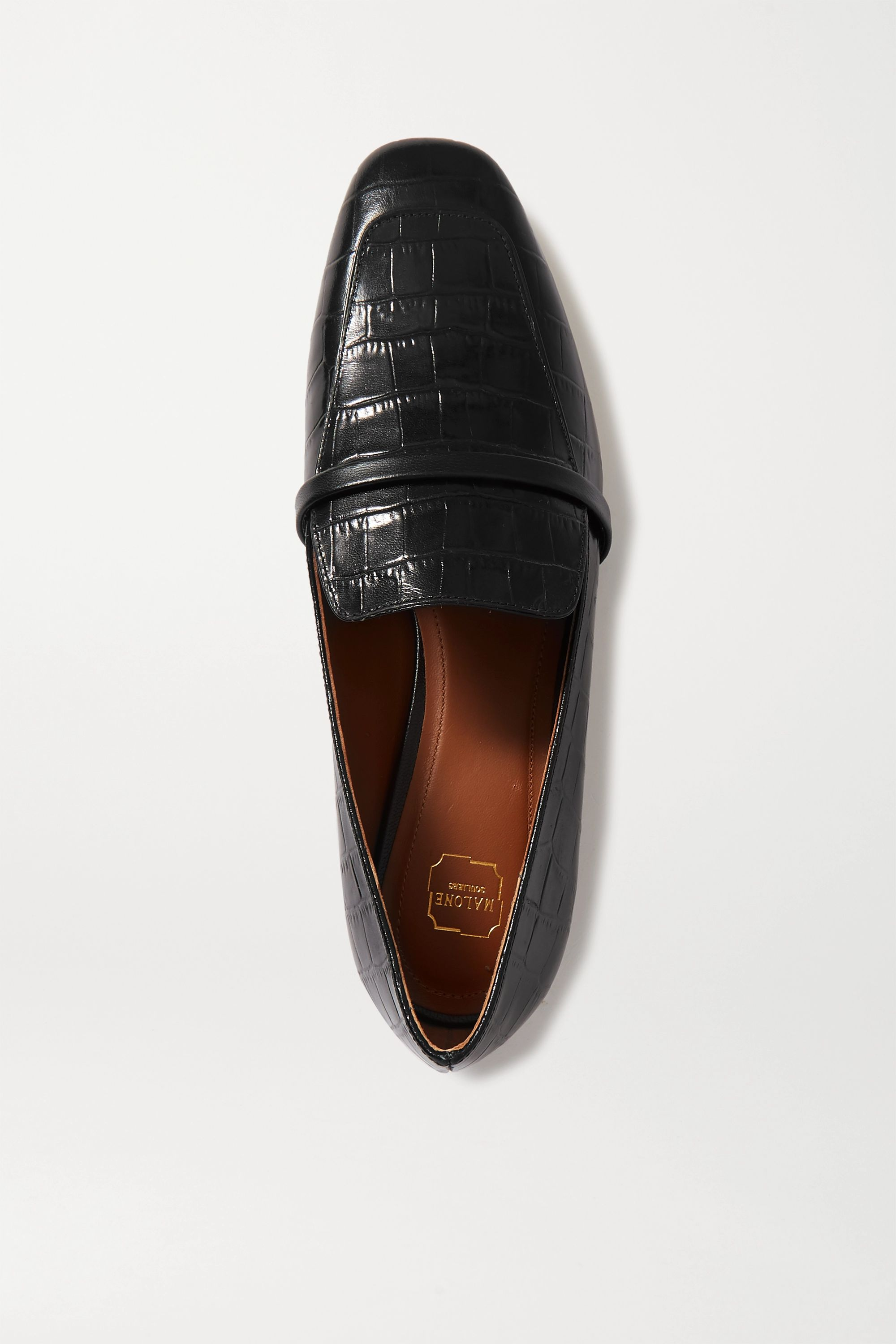 Malone Souliers Jane croc-effect leather loafers
