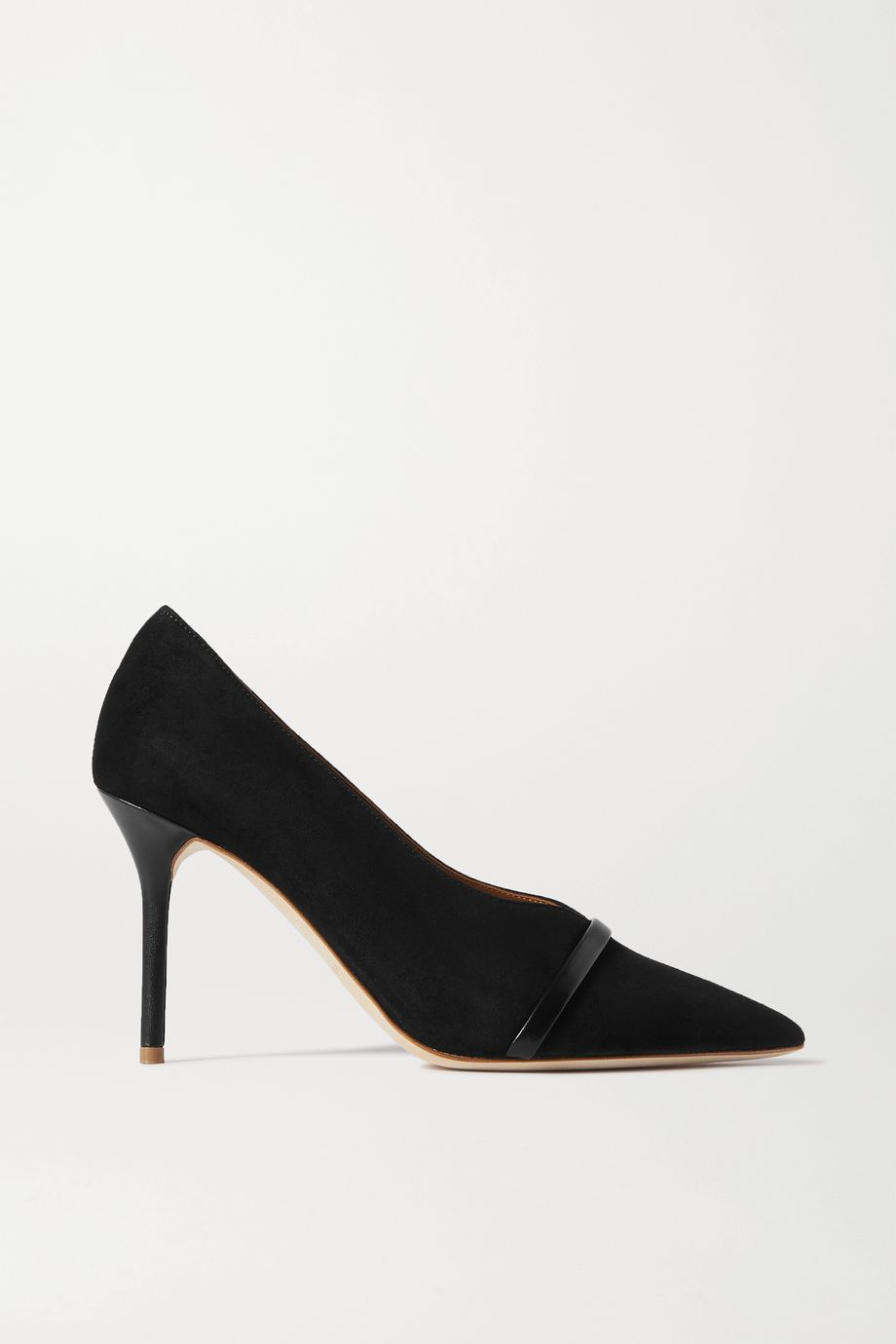Malone Souliers Constance 85 leather-trimmed suede pumps
