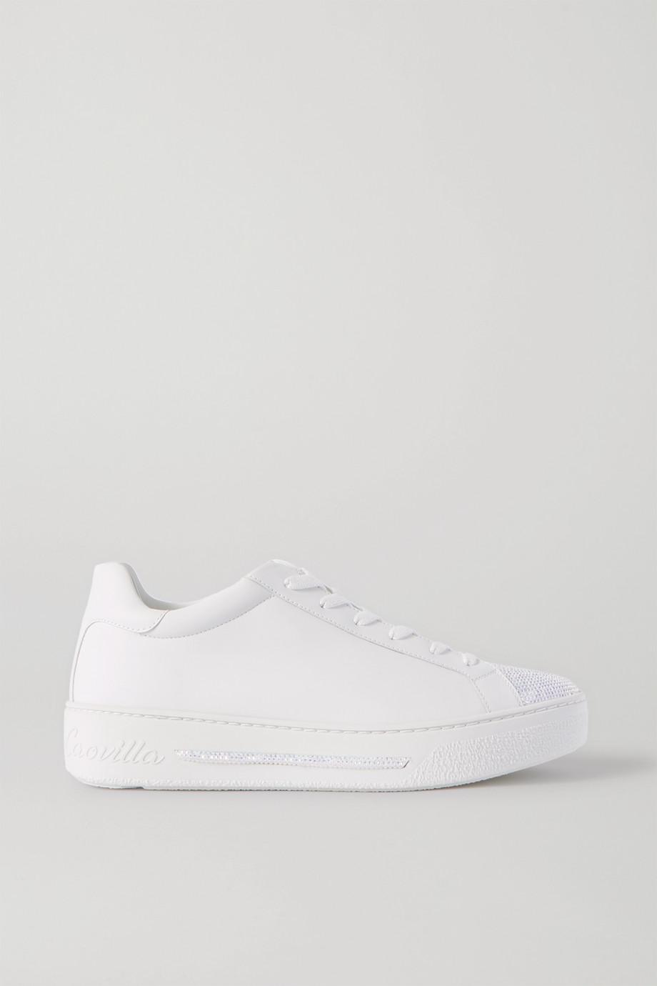 René Caovilla 水晶缀饰皮革运动鞋