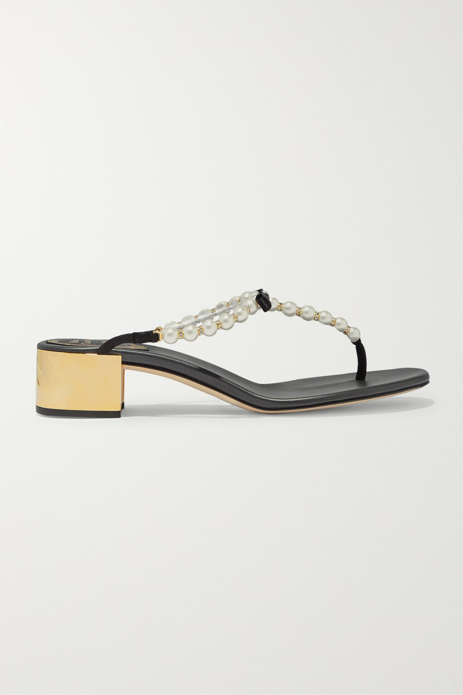 René Caovilla Eliza embellished leather sandals