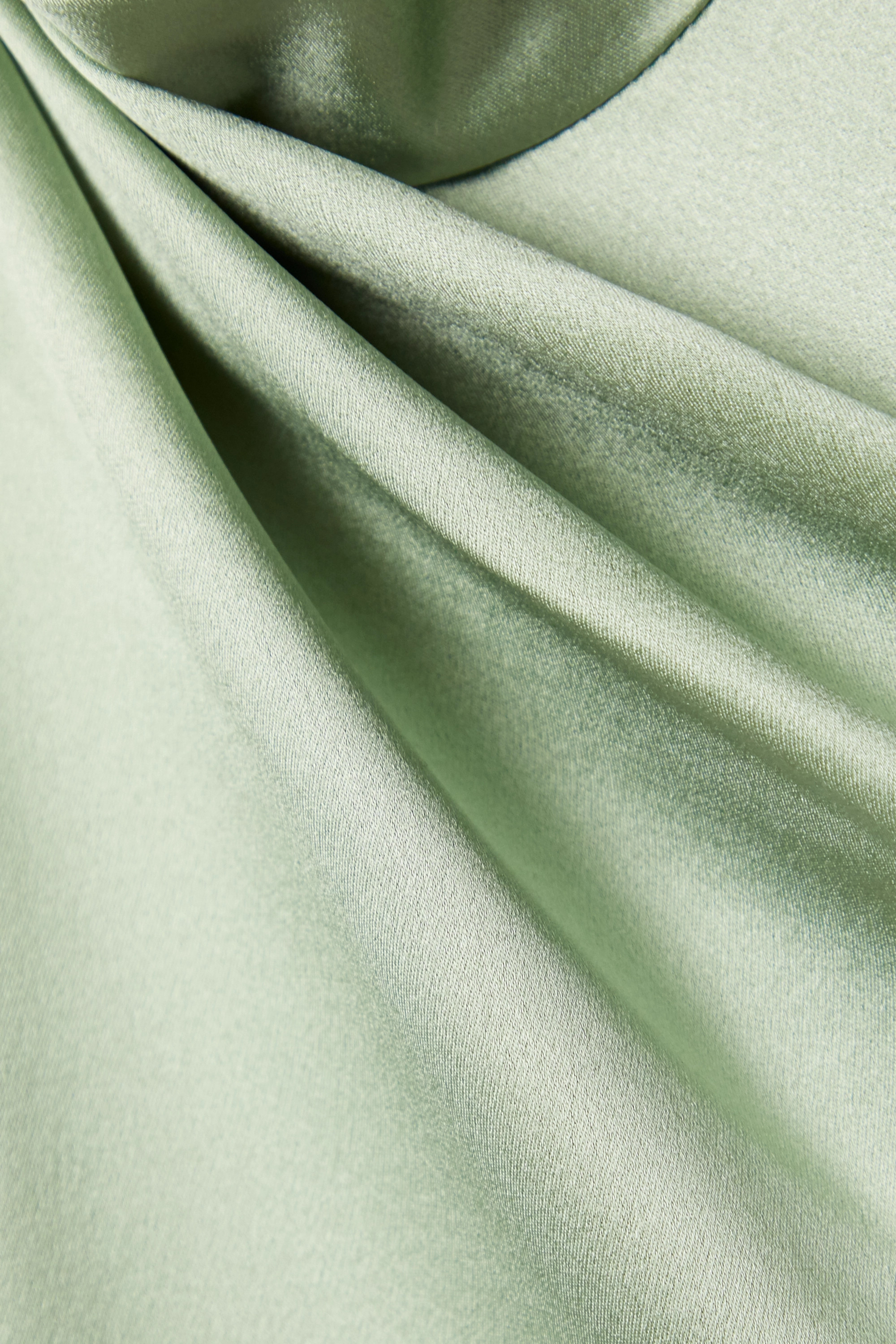 Brandon Maxwell Draped silk-satin crepe midi dress