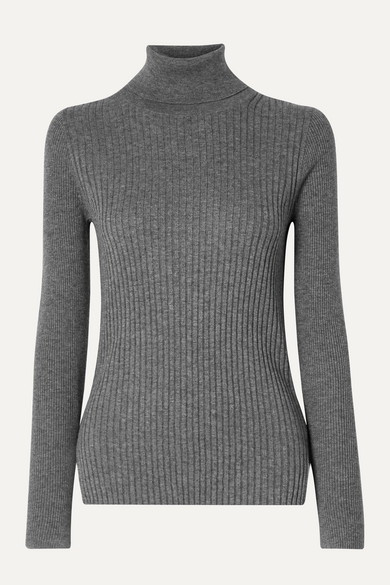 Ribbed Cotton And Wool Blend Turtleneck Sweater by Alex Mill