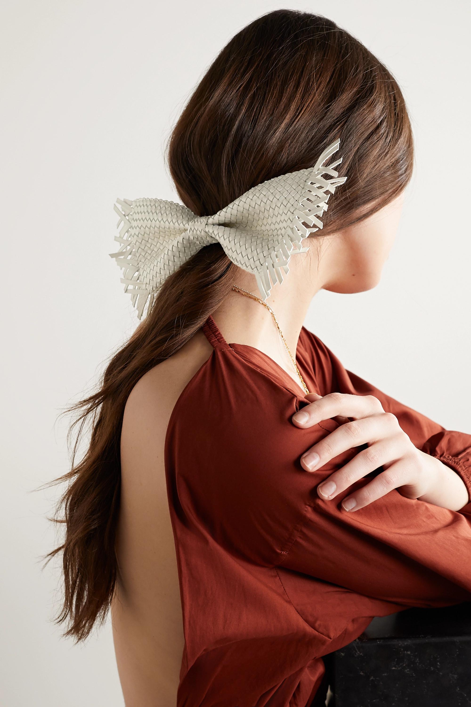 Cult Gaia Banu woven leather hair clip