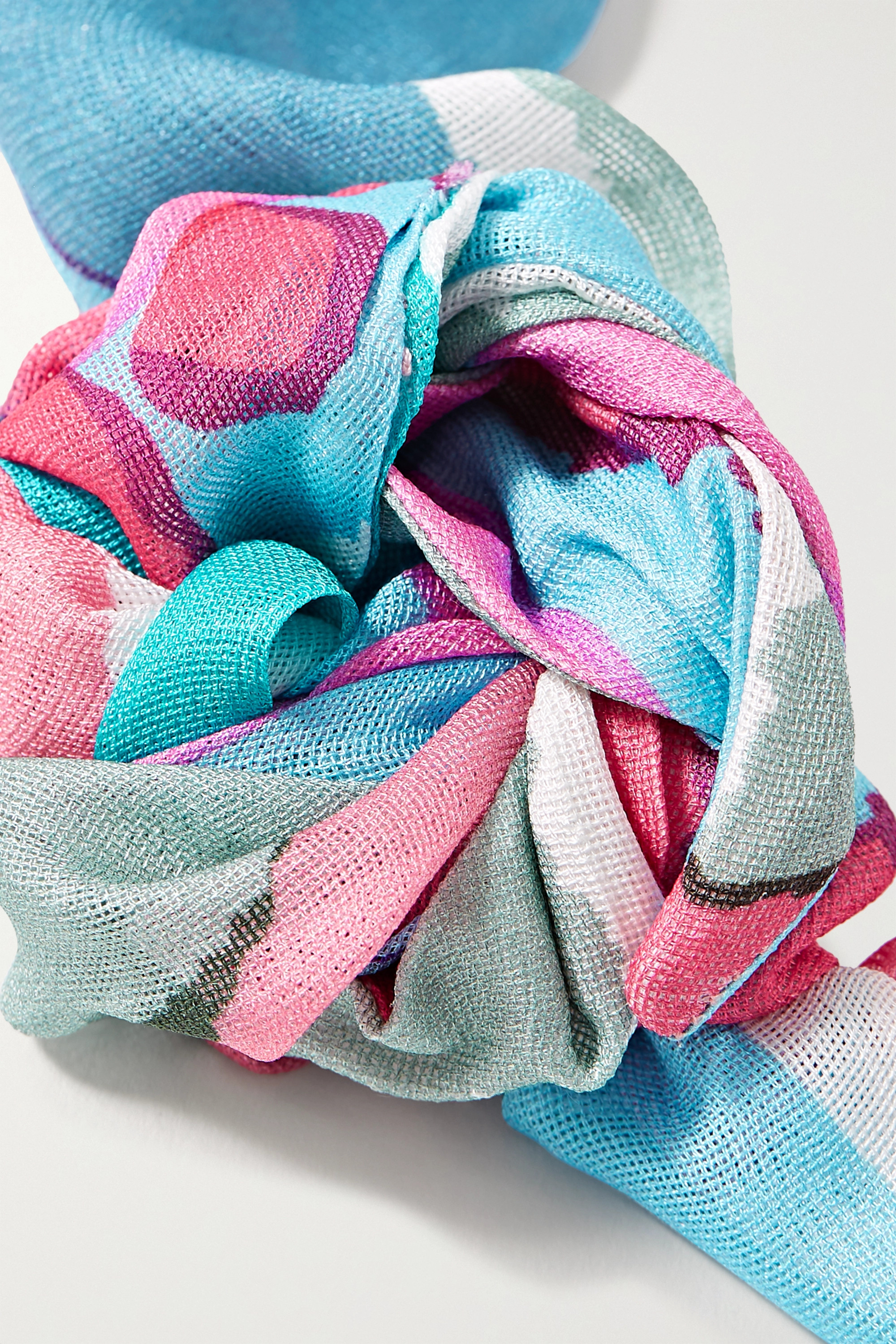 Cult Gaia Turband printed silk-gauze headband