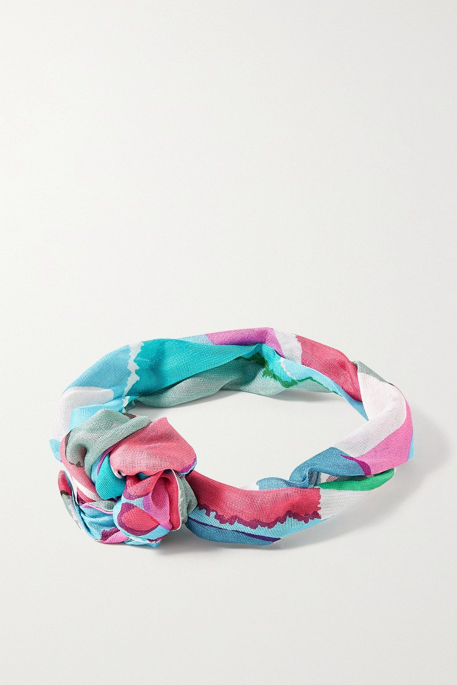Cult Gaia Turband printed silk-gauze headband