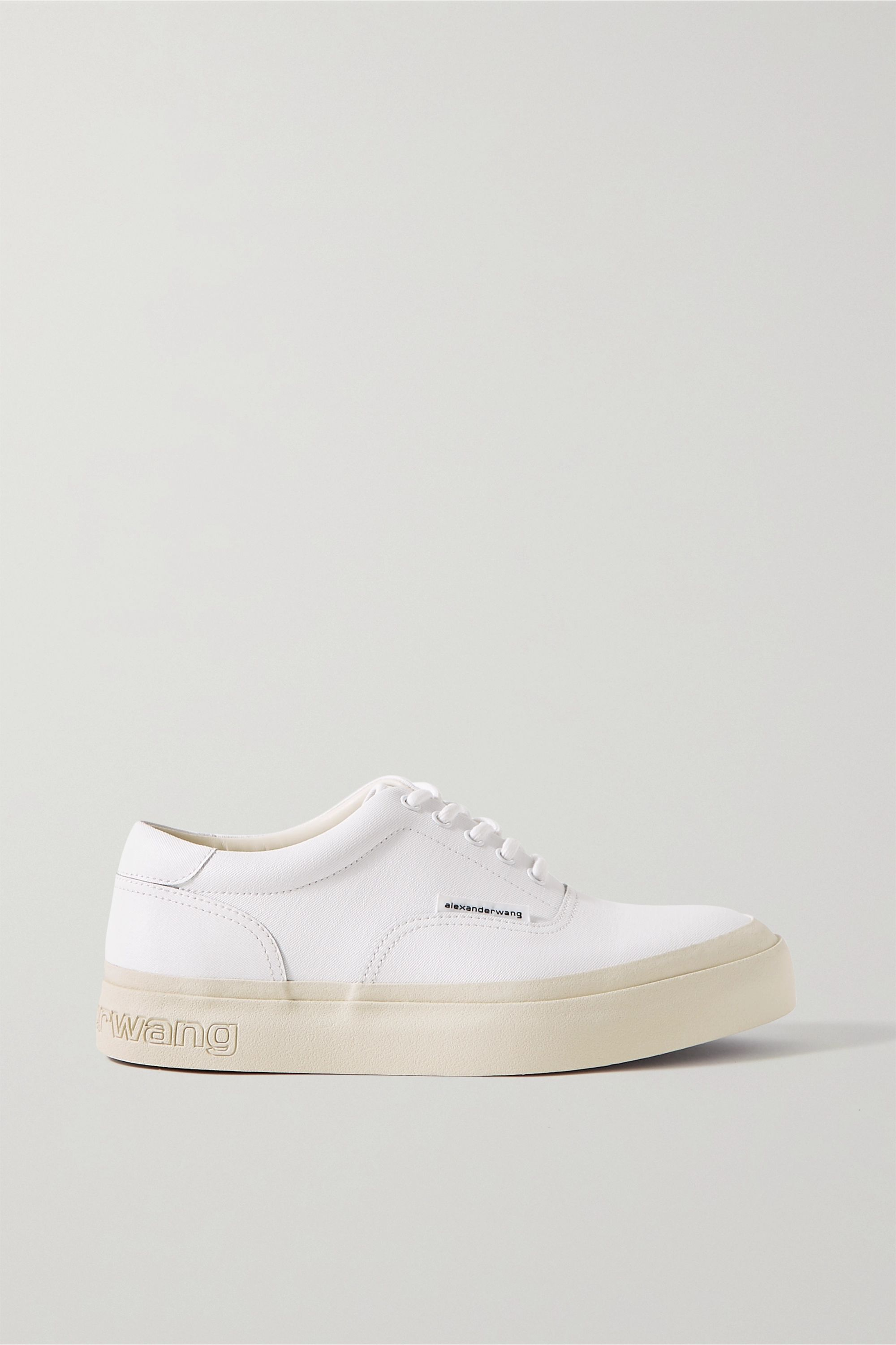 White Andy textured-leather sneakers