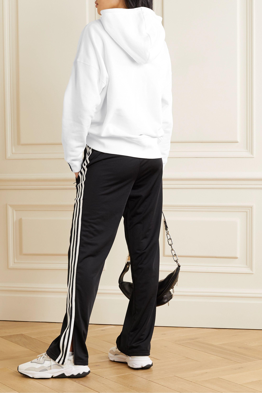 adidas Originals Striped cotton-jersey hoodie
