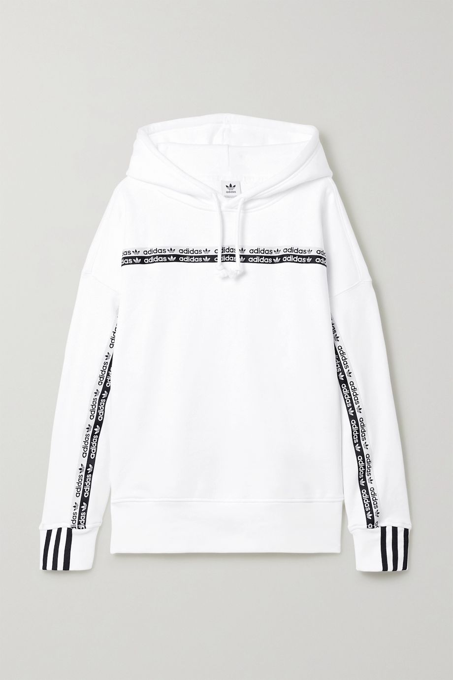 adidas Originals Striped cotton-jersey hoodie