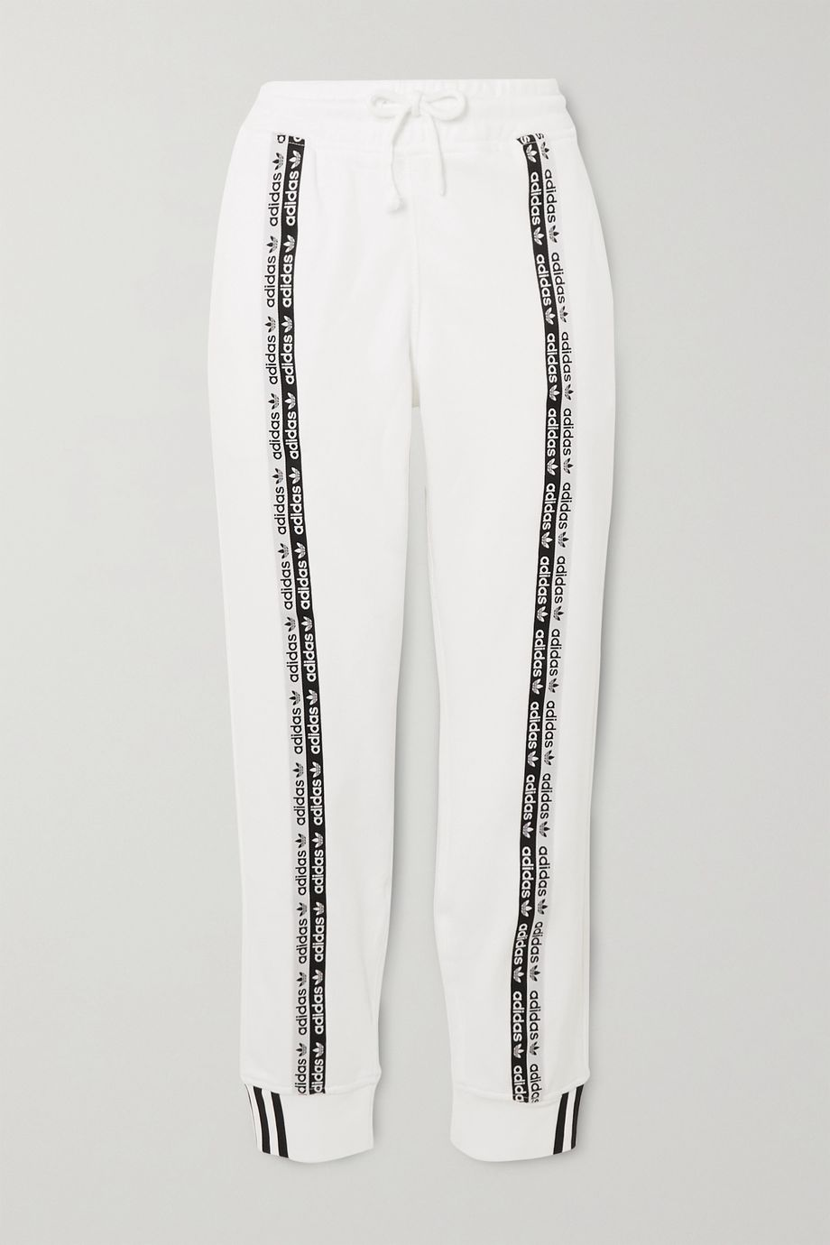 adidas Originals Striped cotton-jersey track pants