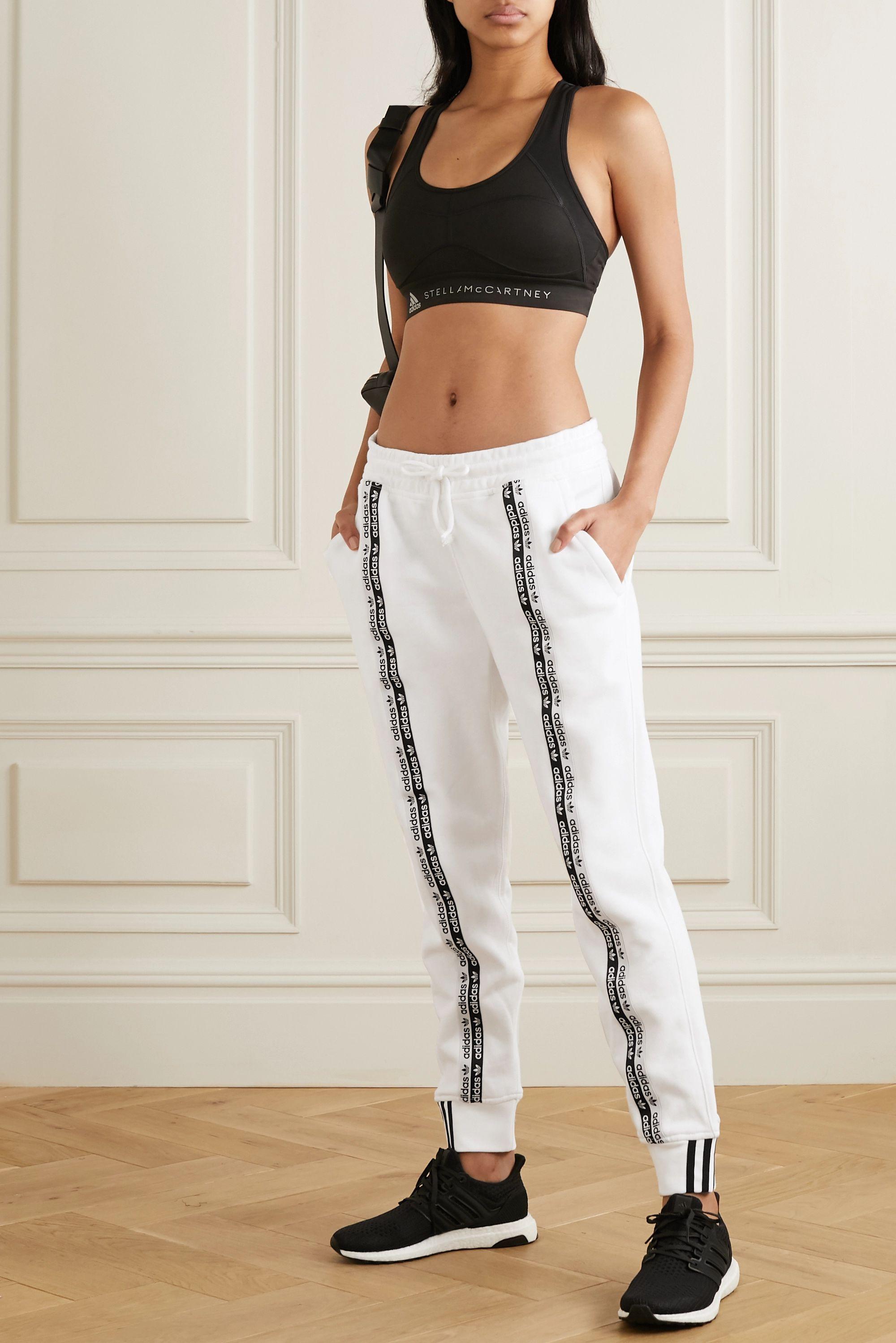 adidas Originals Pantalon de survêtement en jersey de coton à rayures