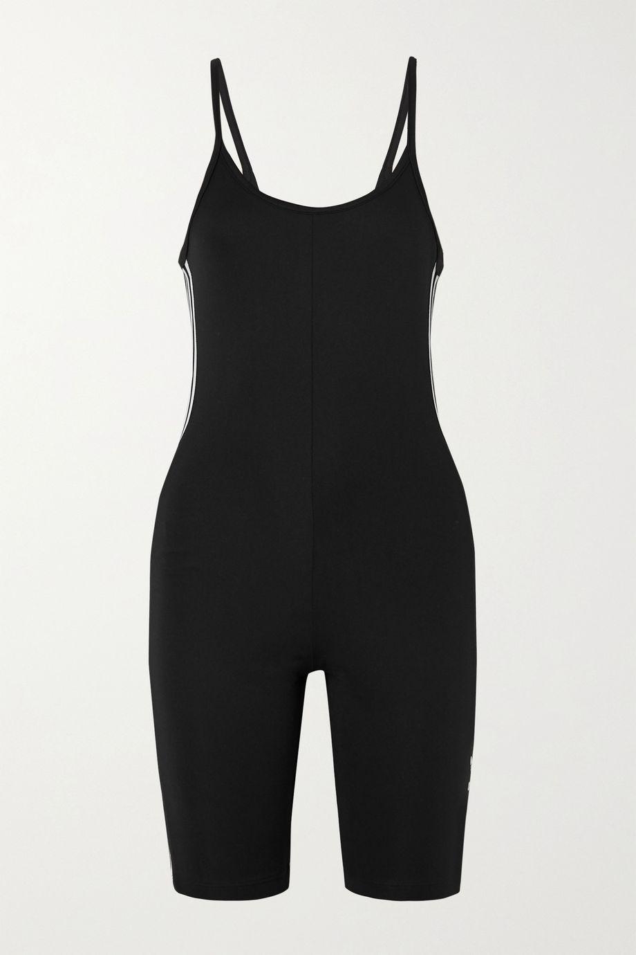 adidas Originals Adicolour Gymnastikanzug aus Stretch-Jersey mit Stickerei und Streifen