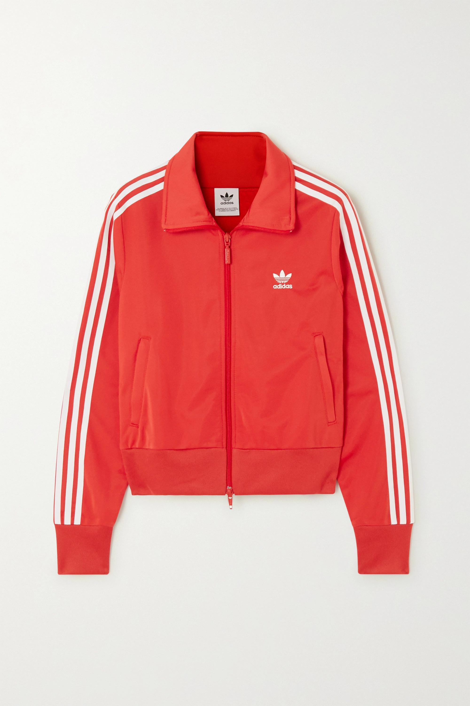 adidas Originals Firebird Trainingsjacke aus glänzendem Jersey mit Streifen